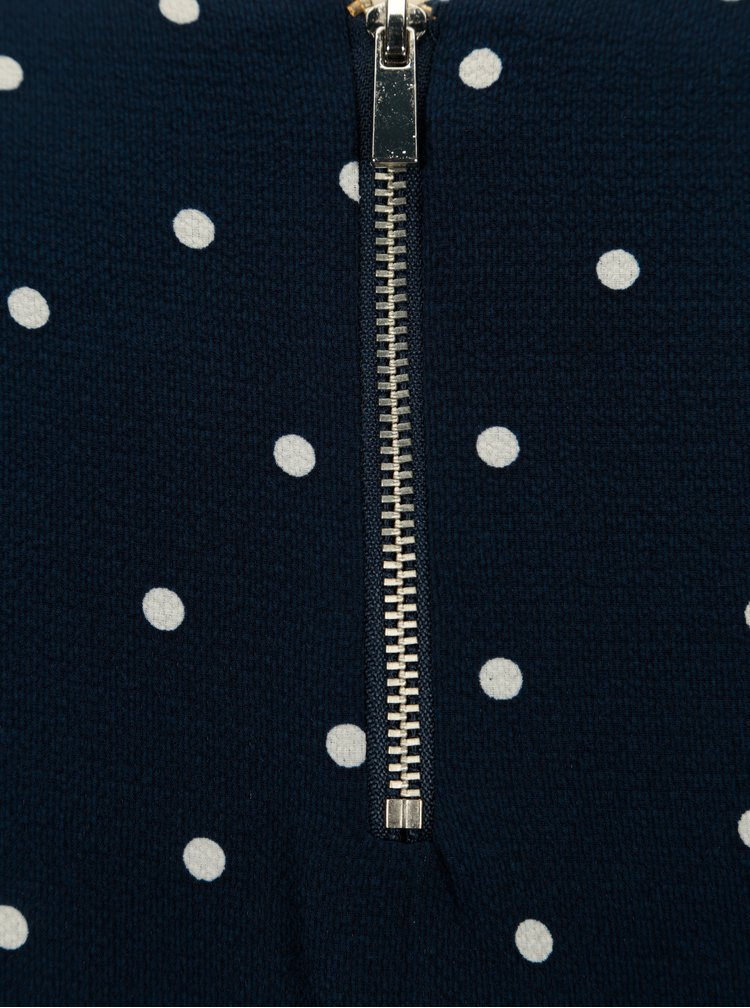 Tmavě modrá puntíkovaná halenka Dorothy Perkins