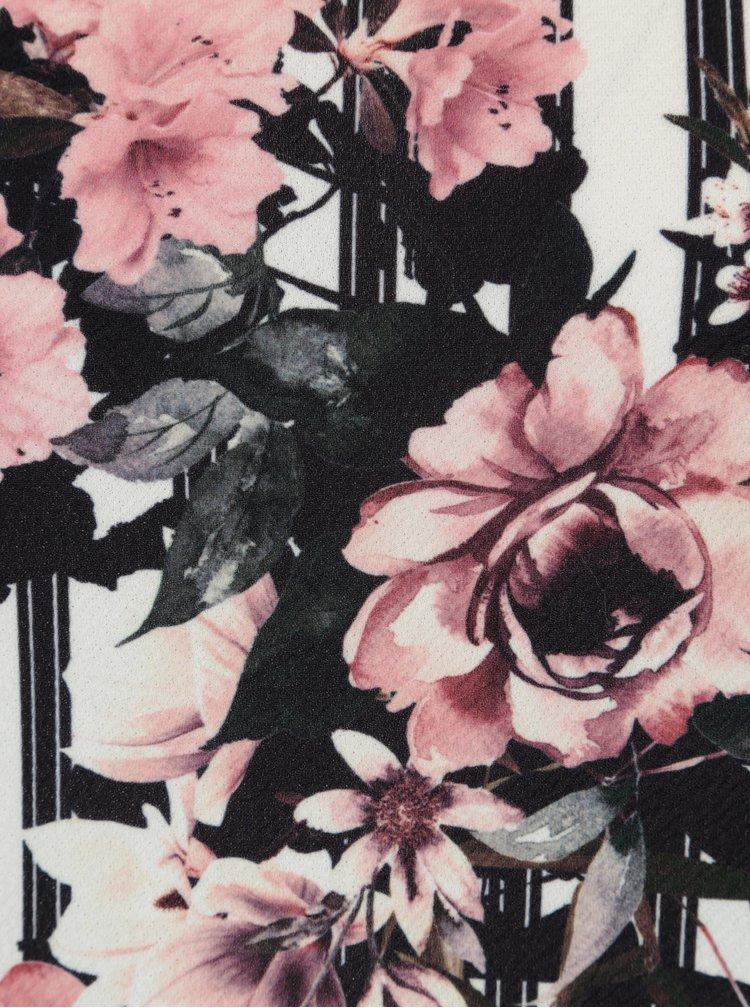 Rochie dreapta cu dungi si print floral  Dorothy Perkins