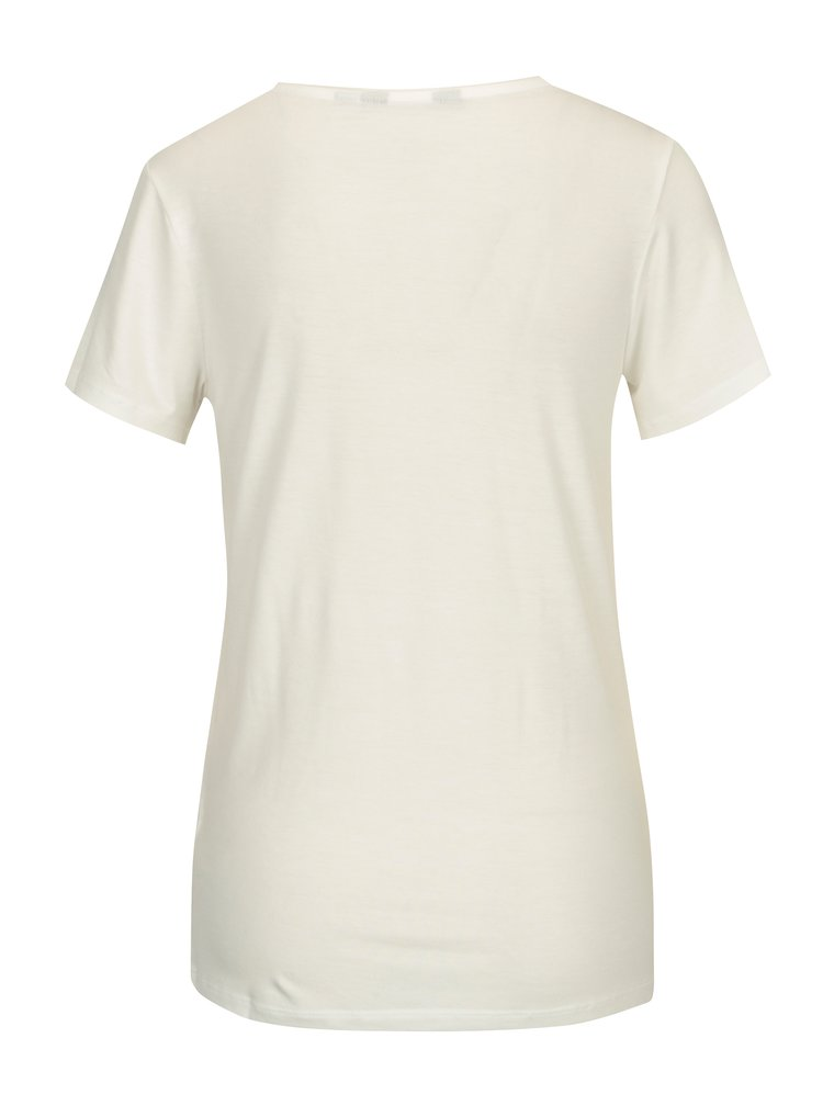 Bílé tričko s krátkým rukávem a potiskem Dorothy Perkins