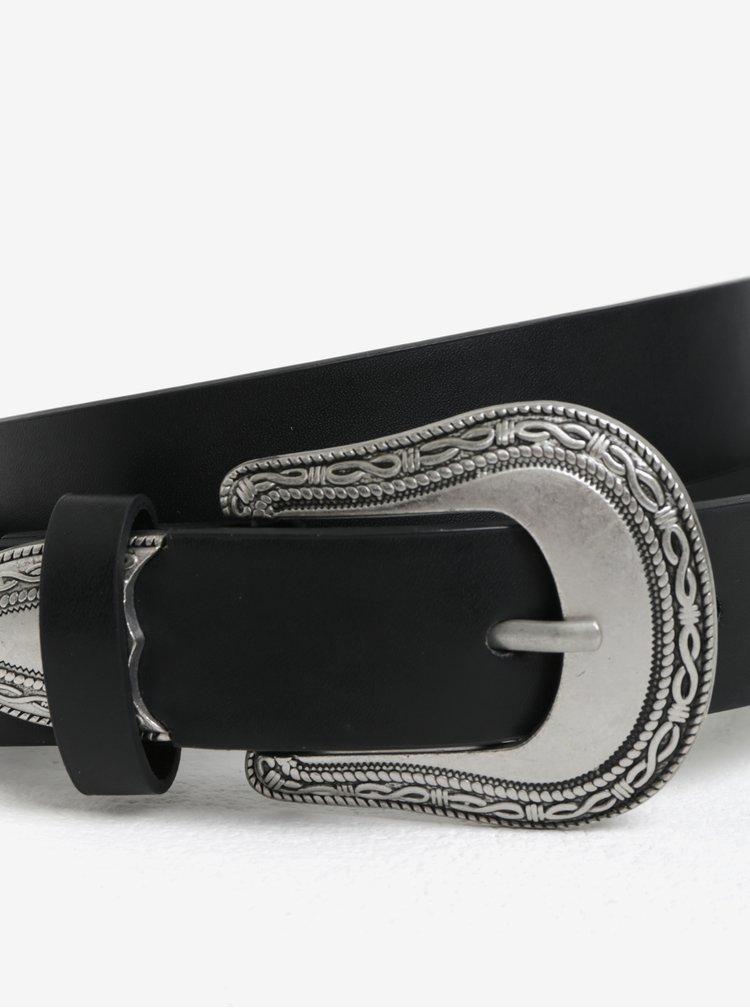 Černý pásek se sponou s ornamenty Dorothy Perkins