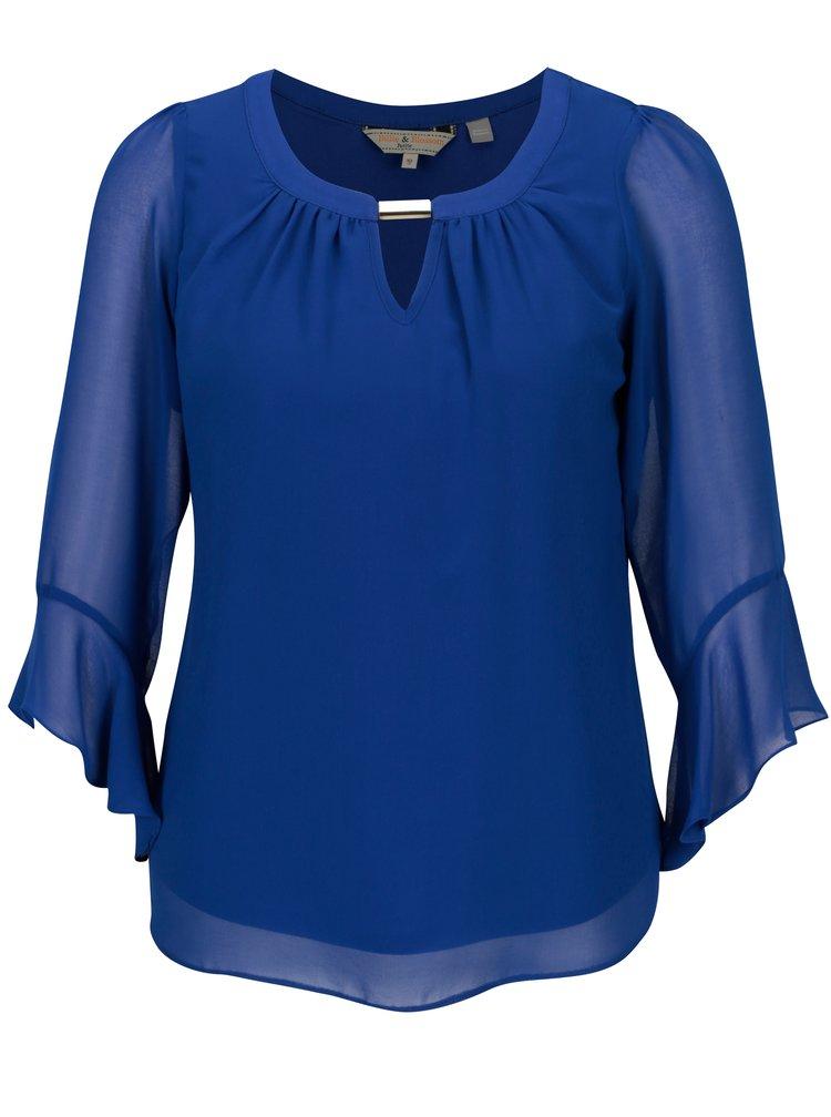 Modrá halenka se zvonovými rukávy Billie & Blossom
