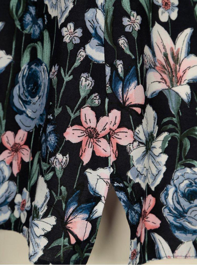 Tmavě modrá květovaná halenka Billie & Blossom