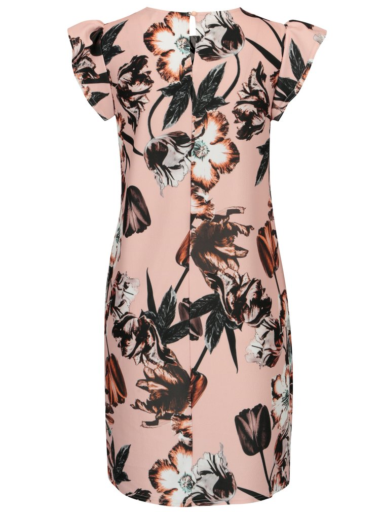 Černo-růžové květované šaty Dorothy Perkins