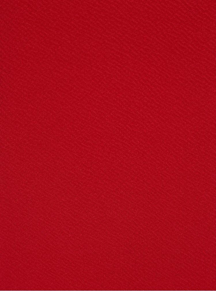 Červené šaty s krátkým rukávem Dorothy Perkins