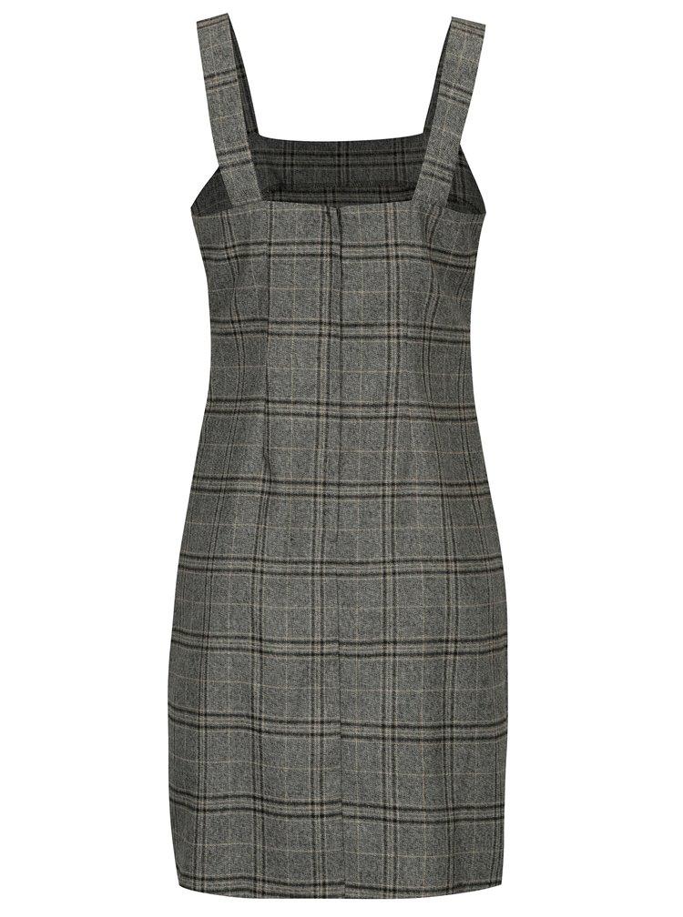 Šedé kostkované šaty bez rukávu Dorothy Perkins