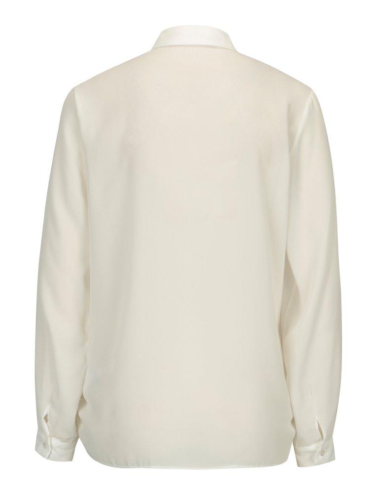 Bílá košile s dlouhým rukávem Dorothy Perkins