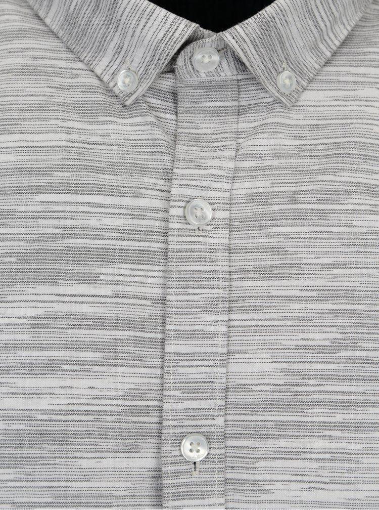 Světle šedá žíhaná košile Lindbergh