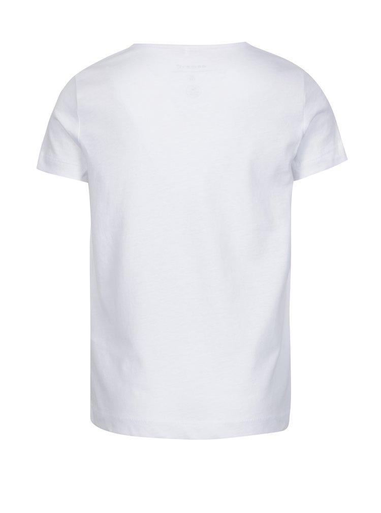 Bílé holčičí tričko s potiskem name it Havourte