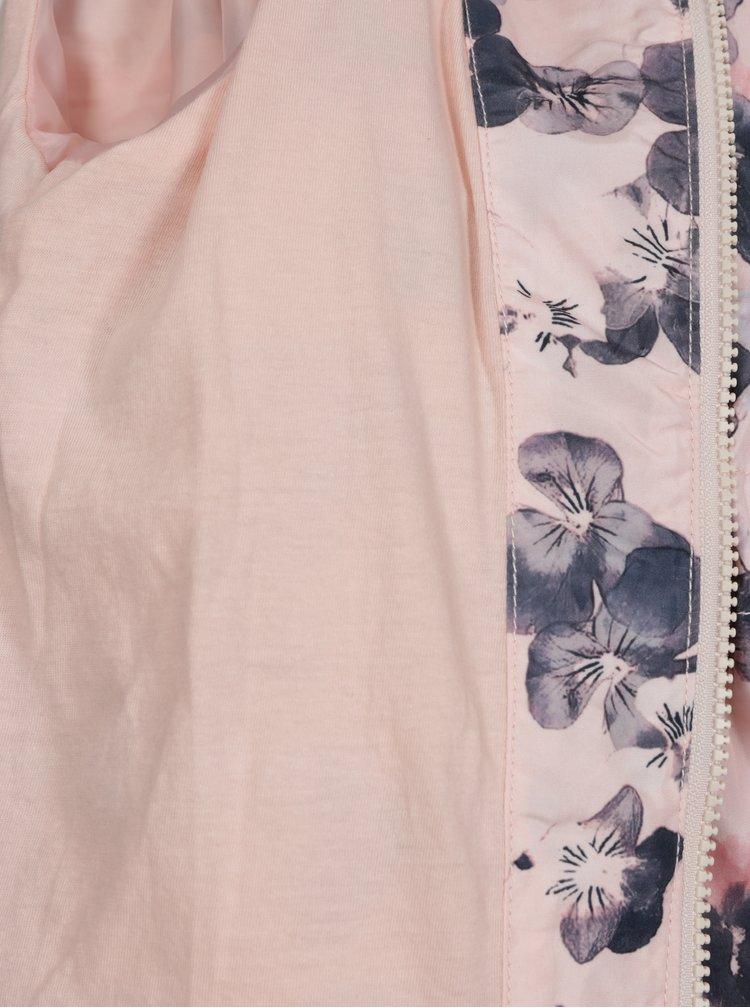 Světle růžová vzorovaná holčičí parka name it Mello