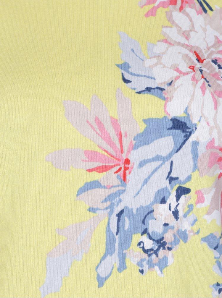 Žlutá dámská květovaná mikina s 3/4 rukávem Tom Joule