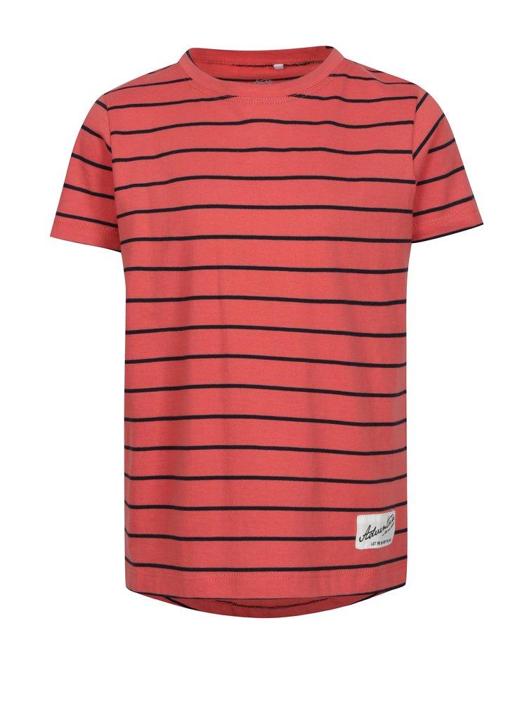 Korálové pruhované klučičí tričko name it Henrik