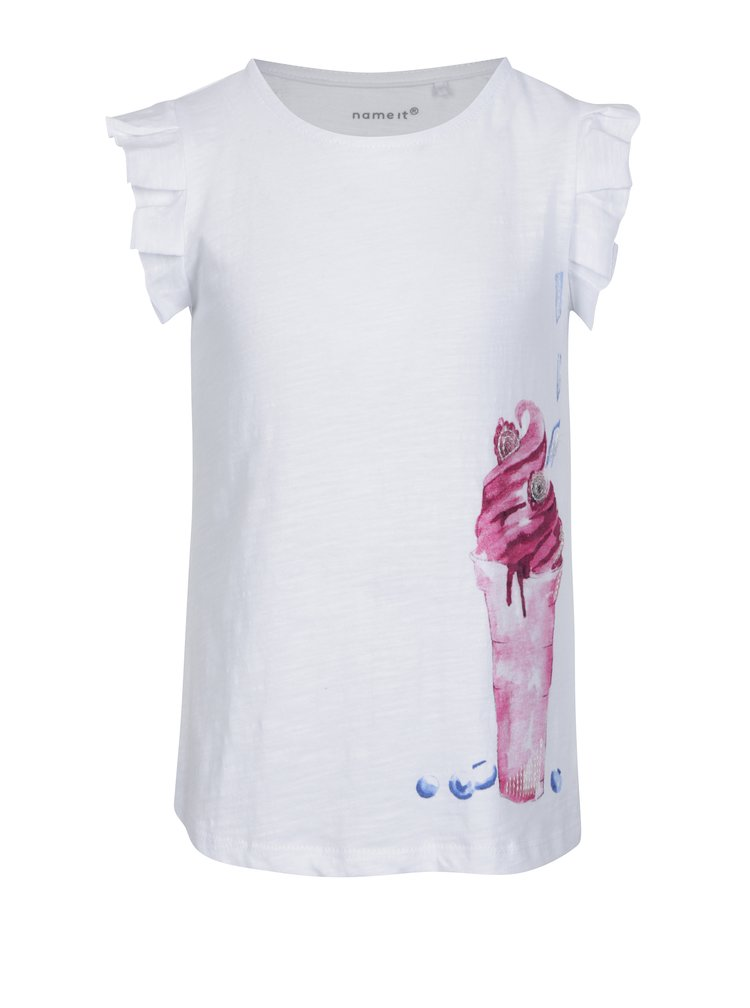 Bílé tričko s volány a flitry name it Haylow