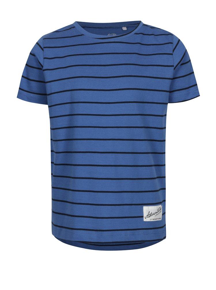 Modré pruhované klučičí tričko name it Henrik