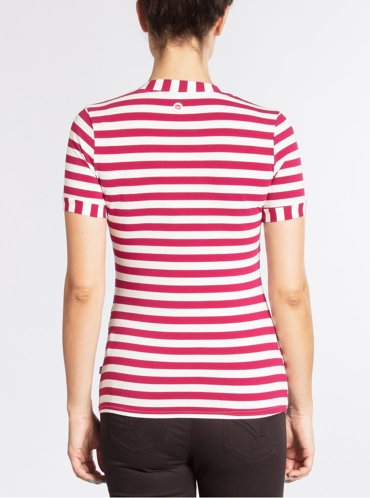 Tricou roz inchis in dungi Blutsgeschwister