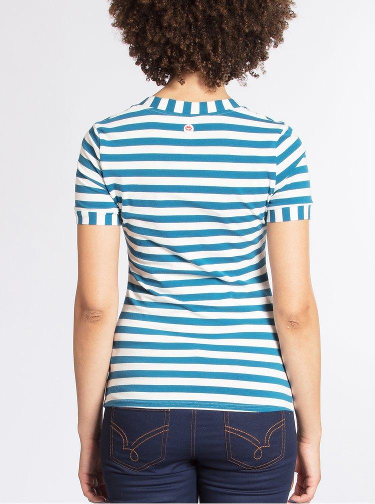 Modré pruhované tričko Blutsgeschwister