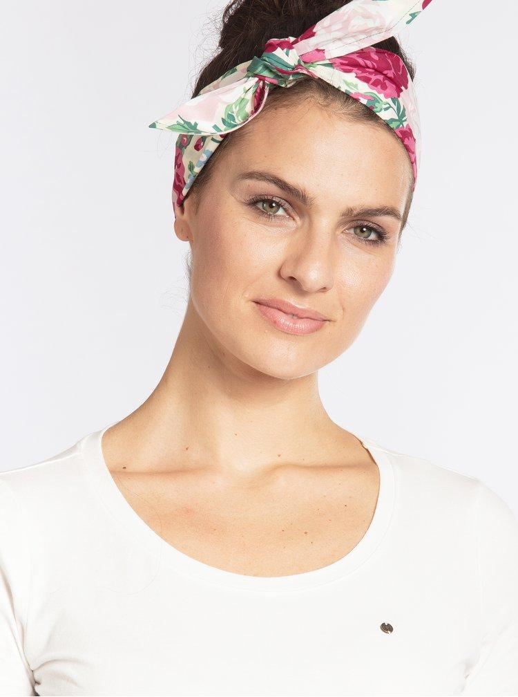 Krémový květovaný šátek Blutsgeschwister