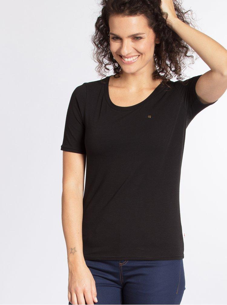 Černé basic tričko s krátkým rukávem Blutsgeschwister
