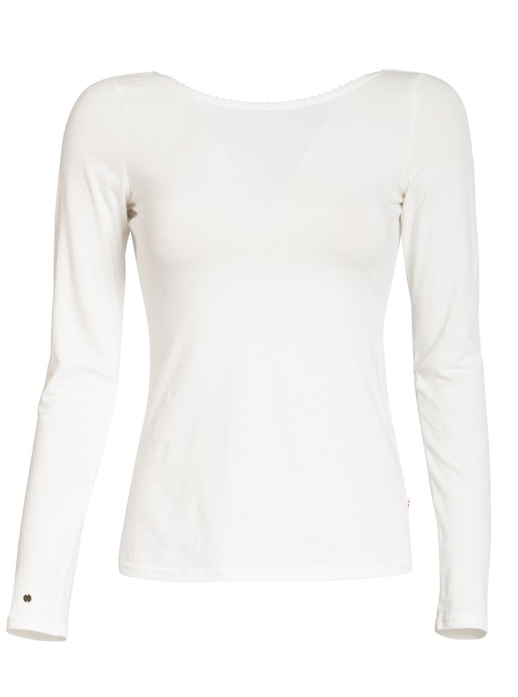 Krémové tričko s dlouhým rukávem Blutsgeschwister