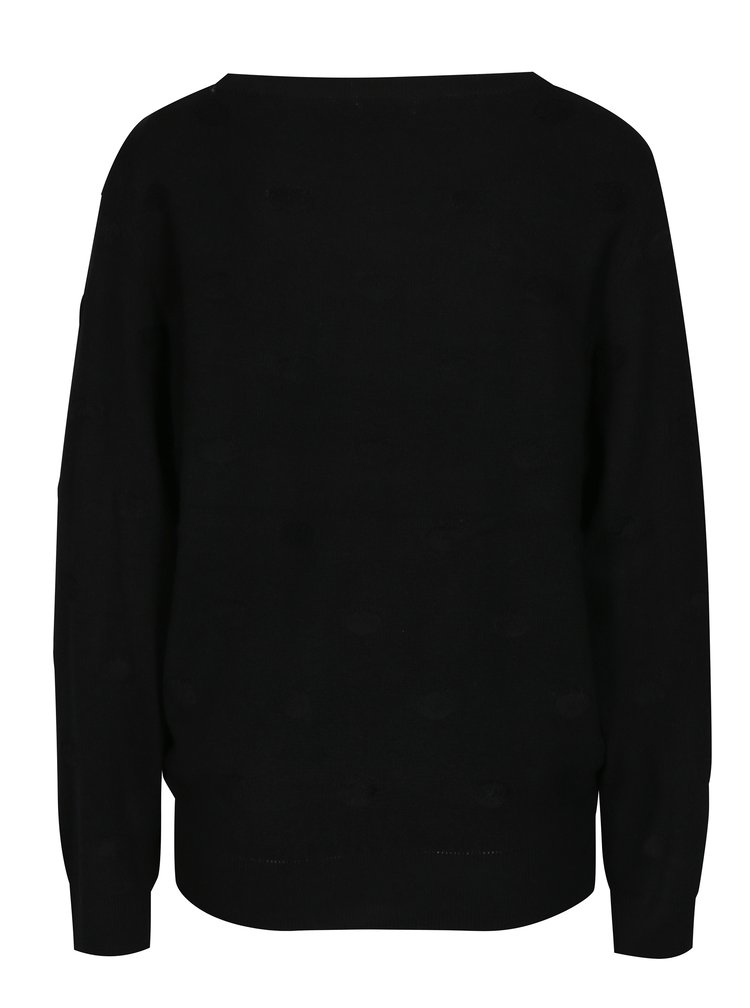 Černý puntíkovaný svetr Jacqueline de Yong Rosie