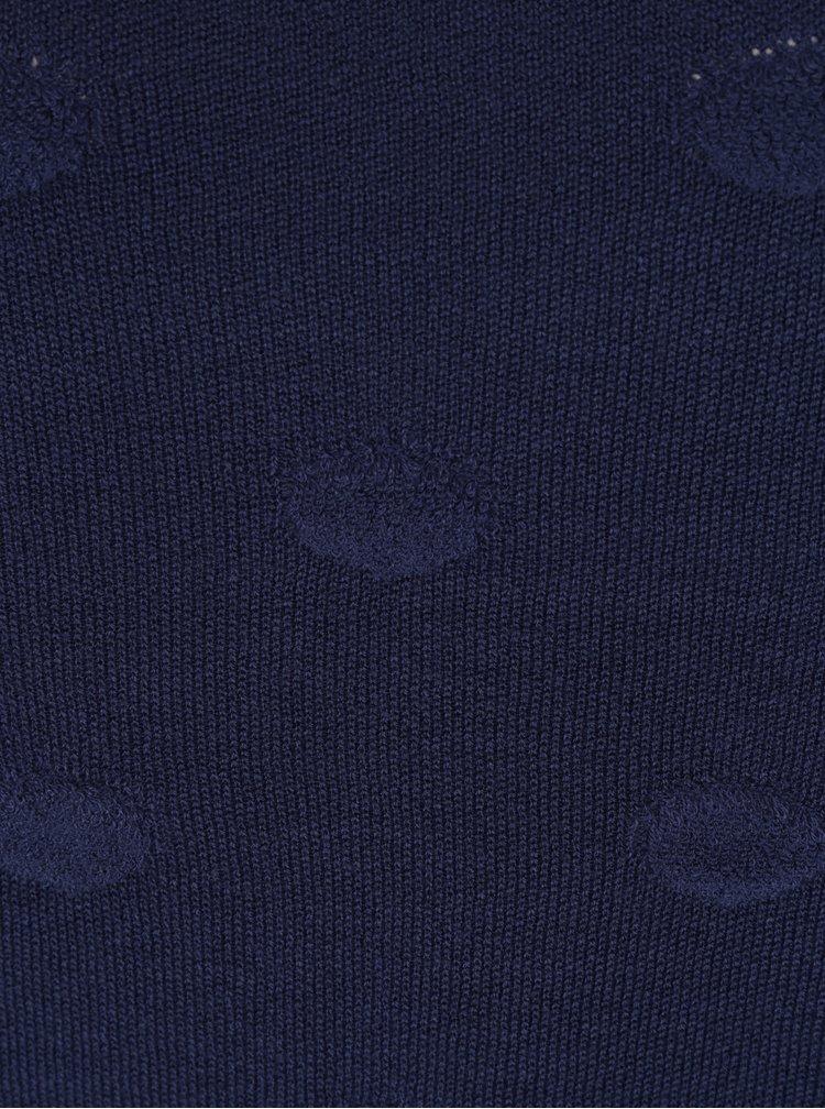 Pulover bleumarin cu decolteu barcuta  Jacqueline de Yong Rosie