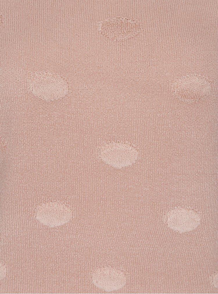 Světle růžový puntíkovaný svetr Jacqueline de Yong Rosie