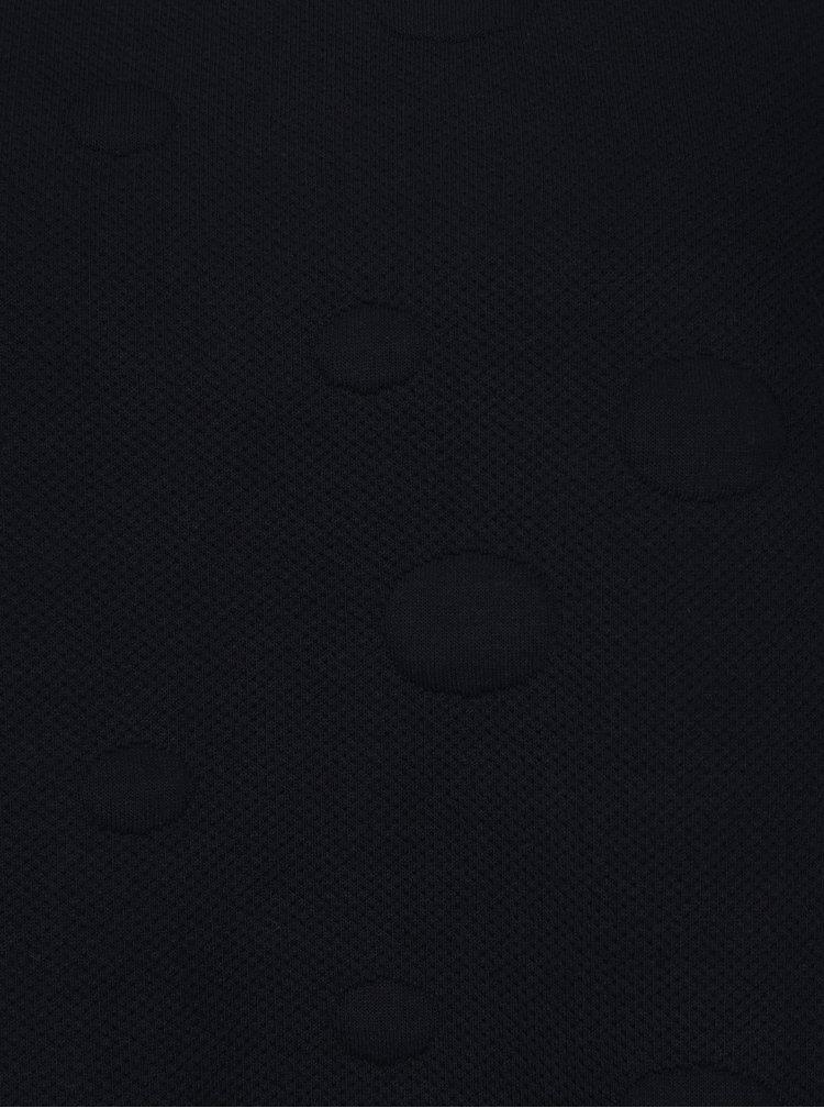 Tmavomodrá bodkovaná mikina Jacqueline de Yong Arra