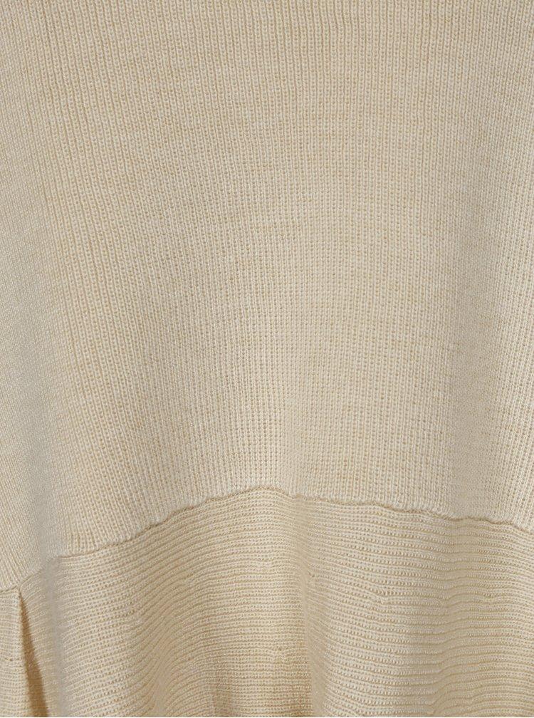 Béžový svetr s volánem ONLY Rosana