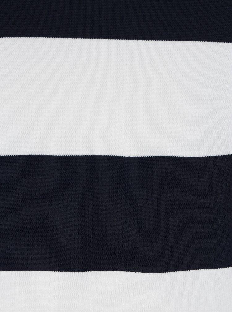 Tmavě modré pruhované tričko s volány ONLY Laura