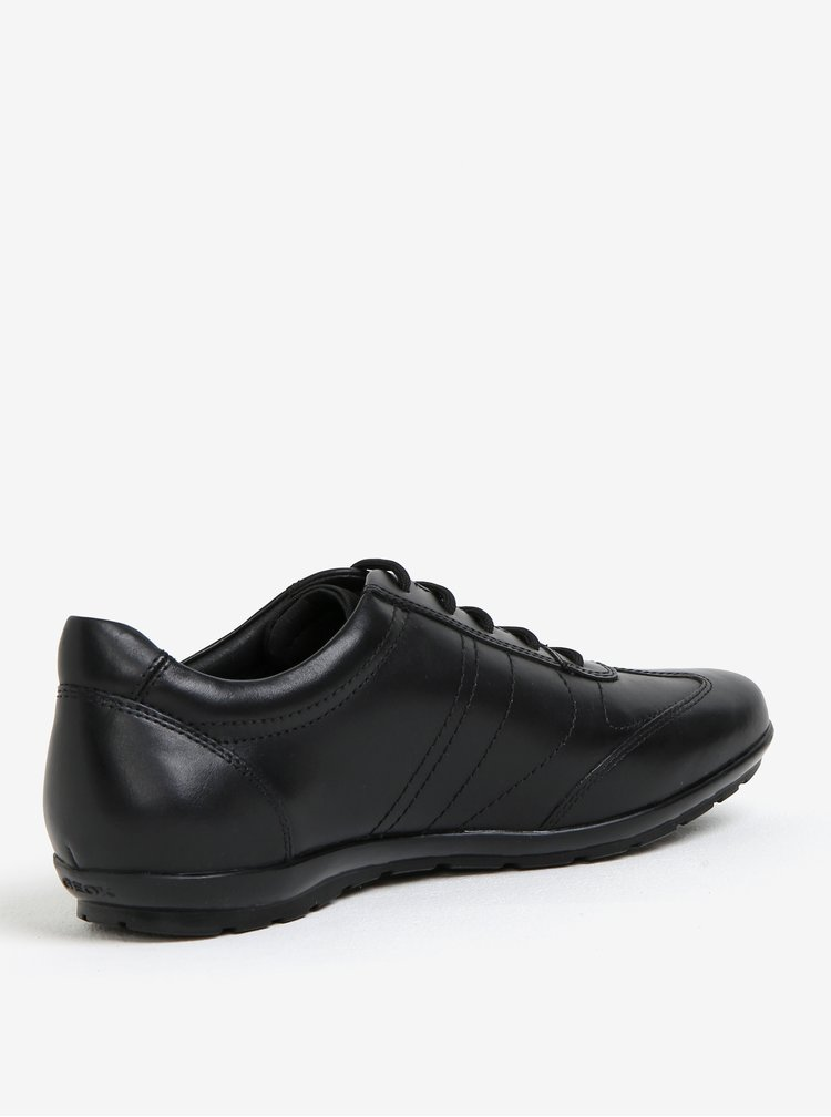 Černé pánské kožené tenisky Geox Symbol B