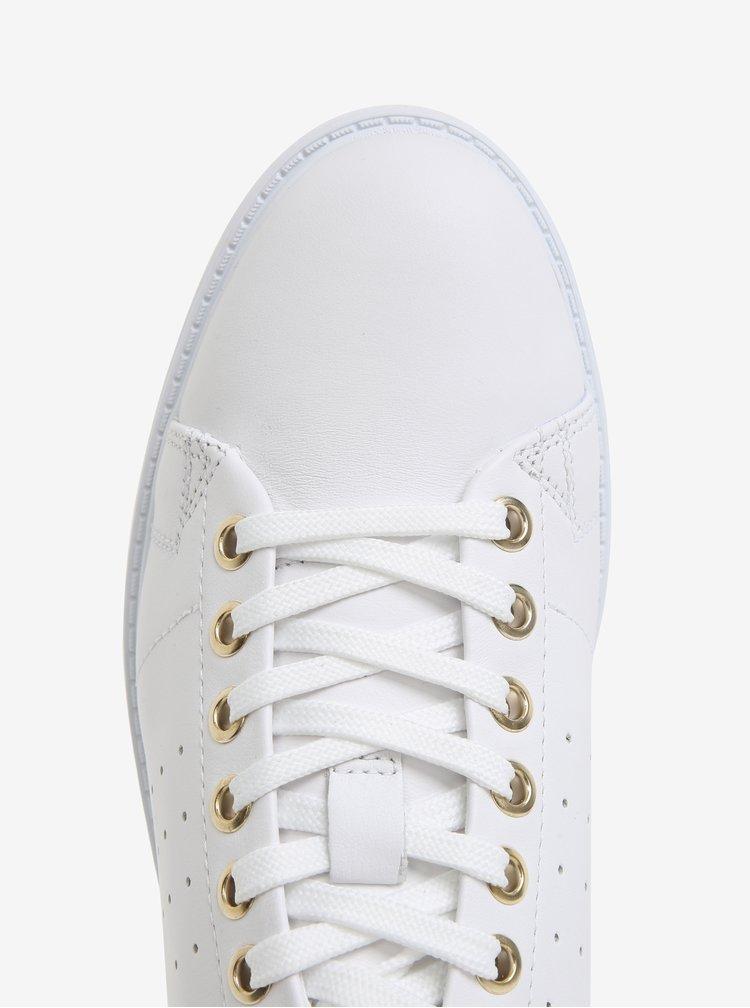 Bílé dámské kožené tenisky Geox Nappa