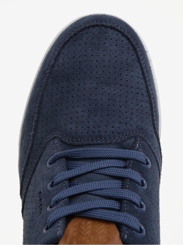 Tmavě modré pánské semišové perforované tenisky Geox Walee