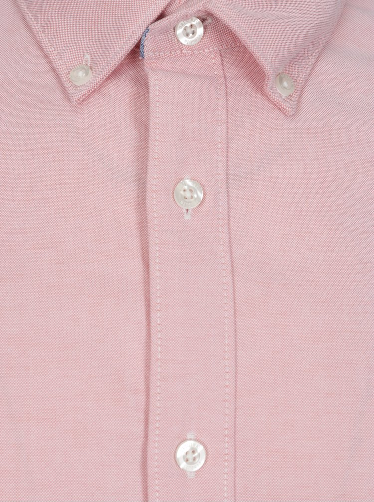 Ružová košeľa s dlhým rukávom Original Penguin Oxford