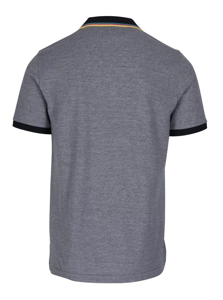 Krémovo-modré polo tričko Original Penguin Tipped Birdseye