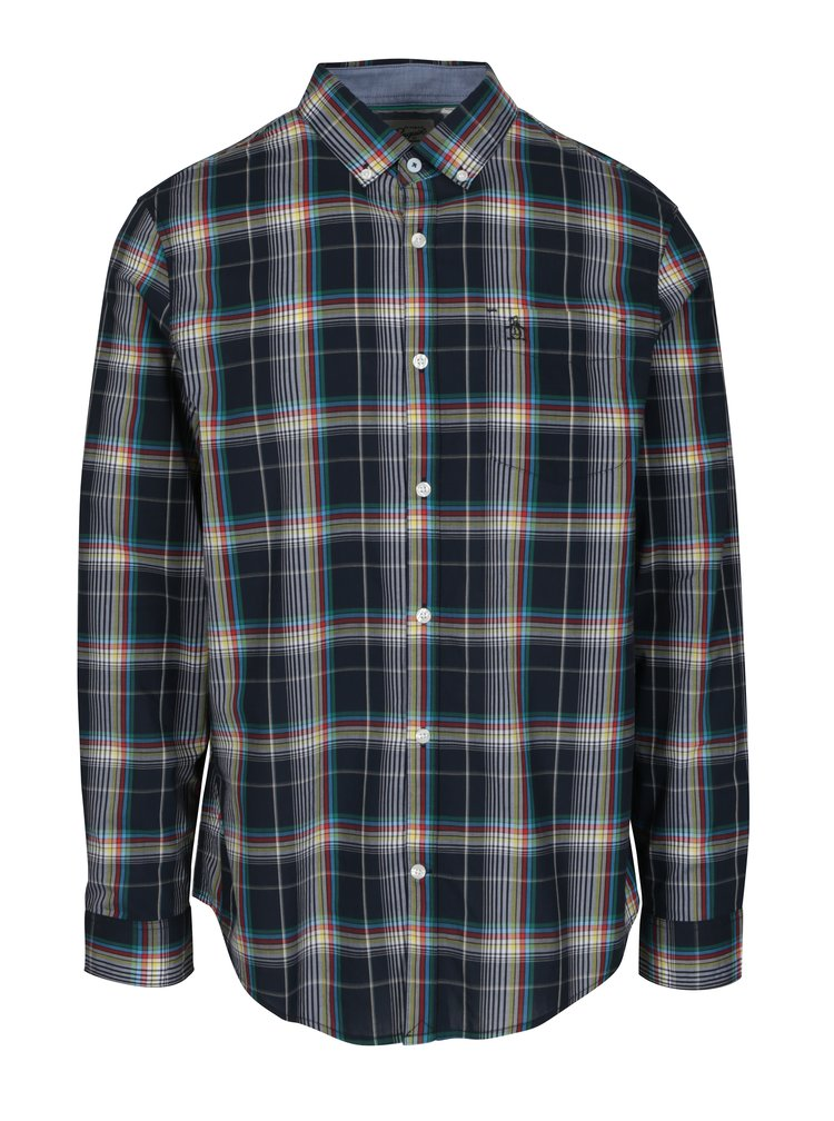 Camasa bleumarin cu model tartan - Original Penguin Plaid