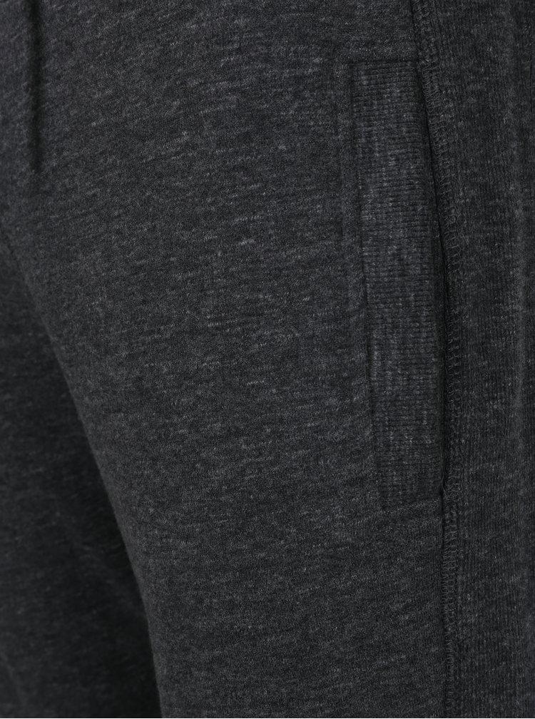 Tmavě šedé žíhané slim fit tepláky Superdry