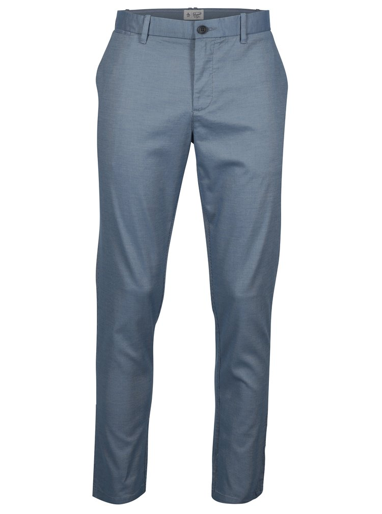 Modré slim fit chino kalhoty Original Penguin Large End on End
