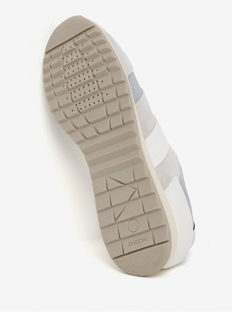 Krémovo-šedé dámské semišové tenisky Geox Deynna