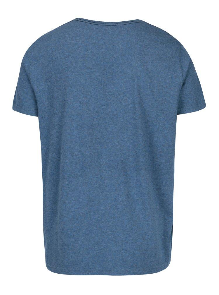 Modré pánské žíhané tričko s potiskem GANT