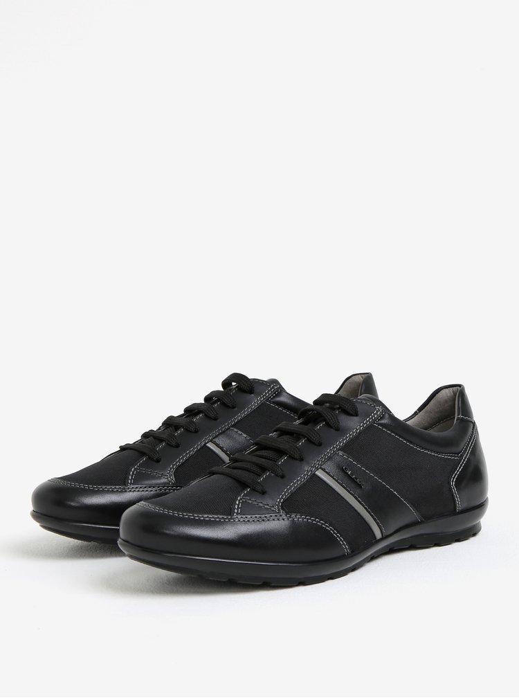 Černé pánské kožené tenisky Geox Symbol A