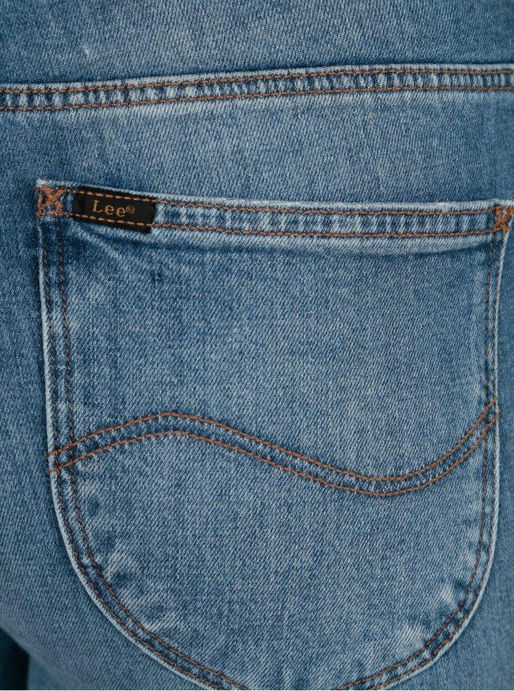 Blugi slim fit albastri cu aspect prespalat pentru femei - Lee Elly