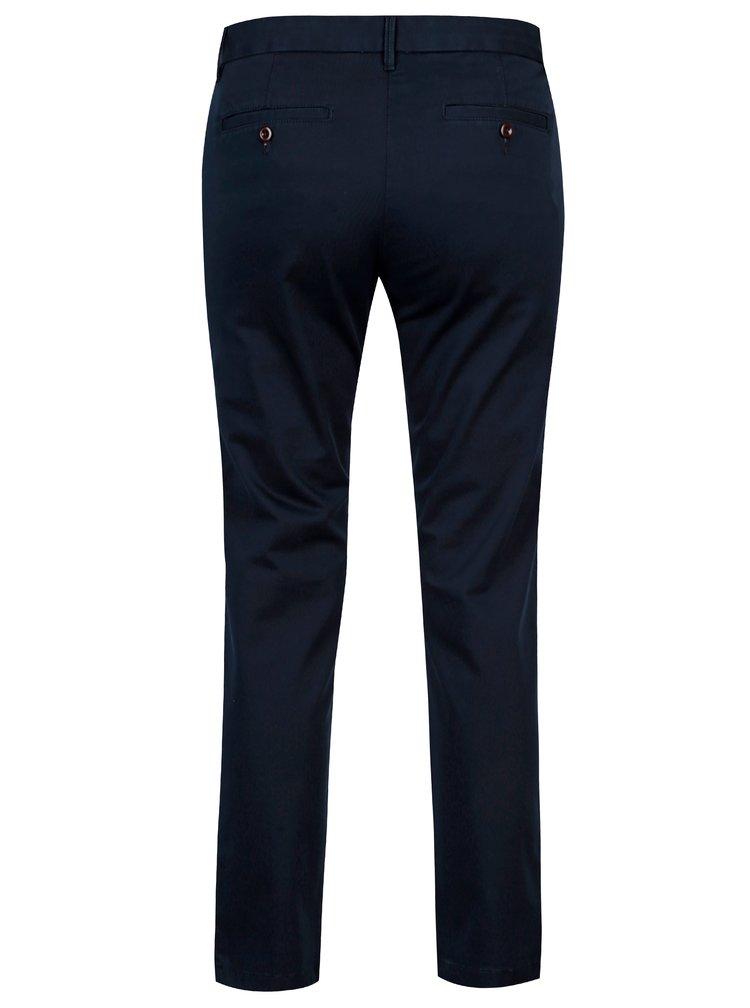 Tmavě modré dámské zkrácené chino kalhoty GANT