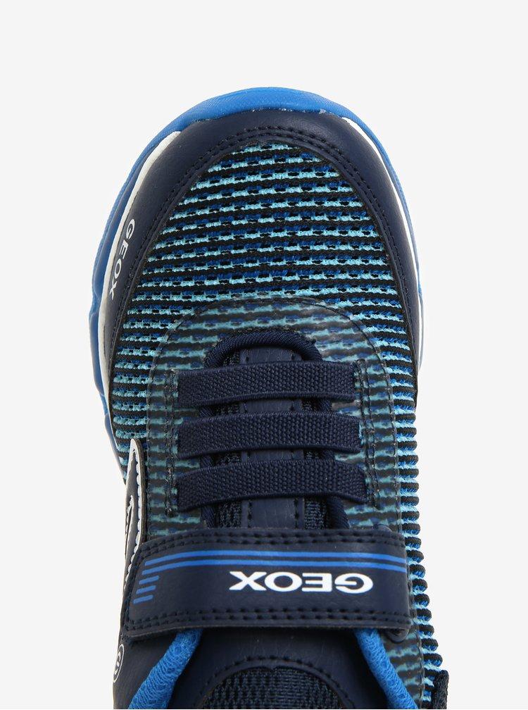 Tmavě modré klučičí svítící tenisky Geox