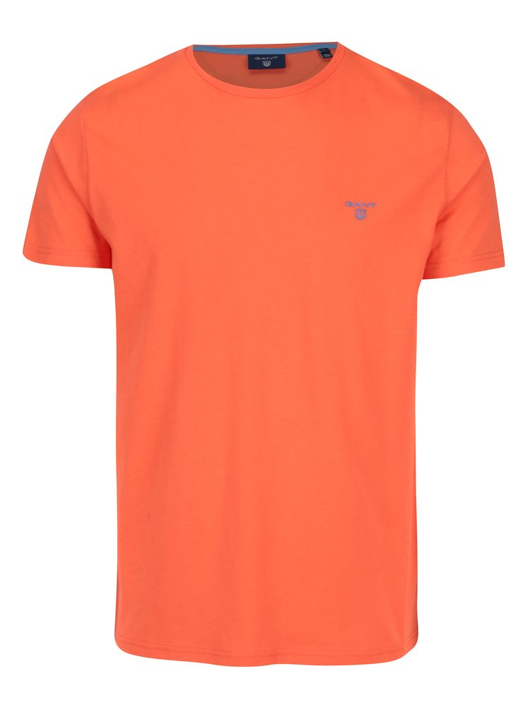 Oranžové pánské tričko s výšivkou loga GANT