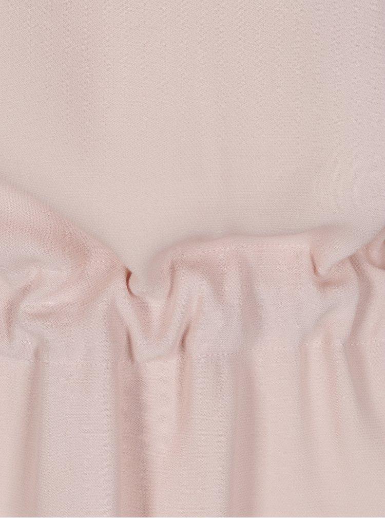 Růžová halenka se stahováním v pase Selected Femme Tanna