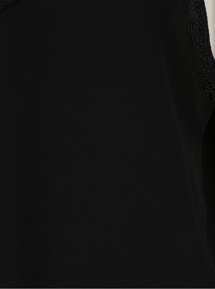 Čierne tielko s čipkou VERO MODA Sasha