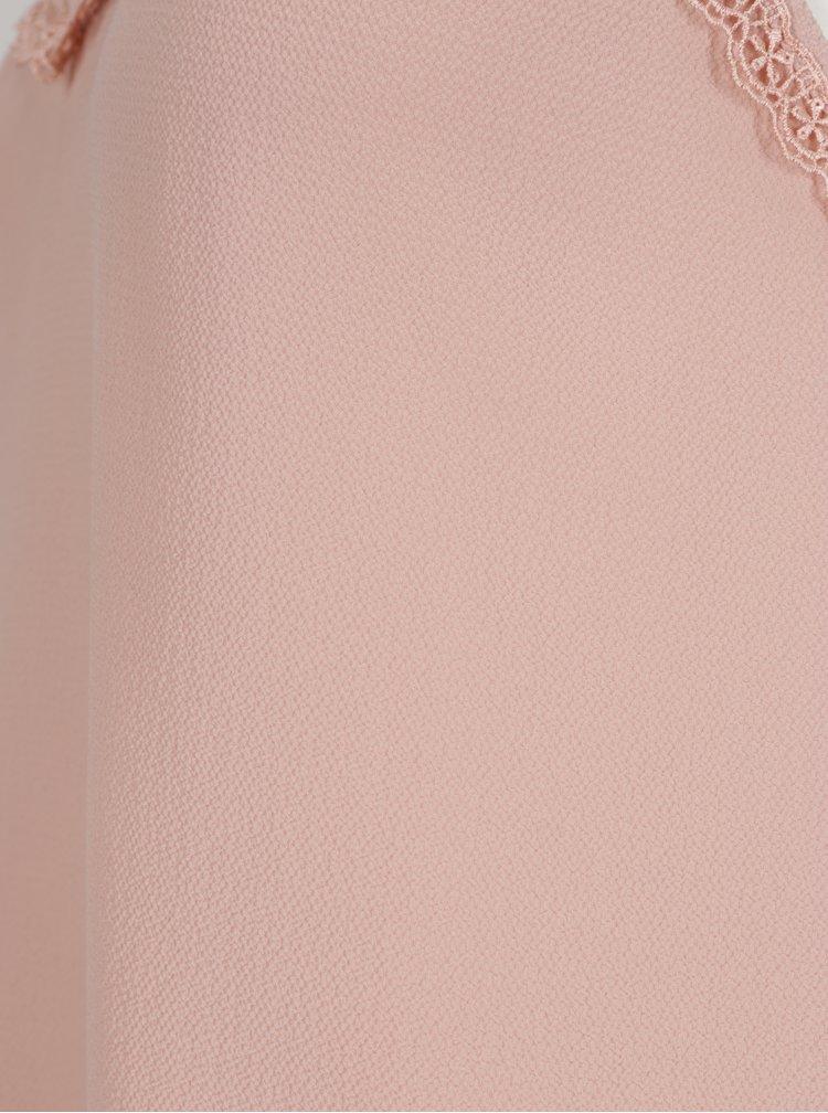 Růžové tílko s krajkou VERO MODA Sasha