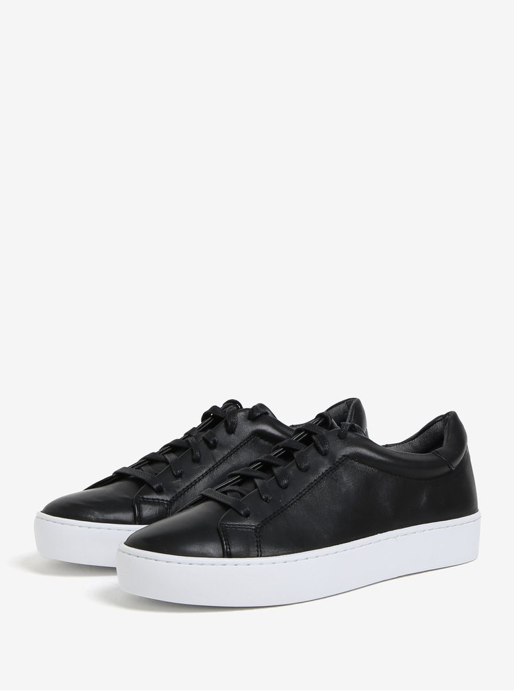 Černé dámské kožené tenisky na platformě Vagabond Zoe