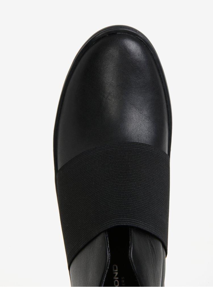 Černé dámské kožené kotníkové tenisky na platformě Vagabond Zoe
