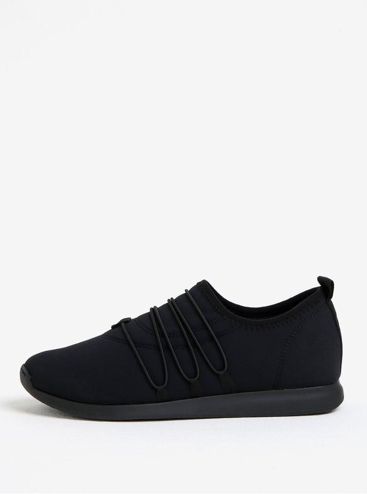 Pantofi sport negri cu siret decorativ pentru femei Vagabond Kasai