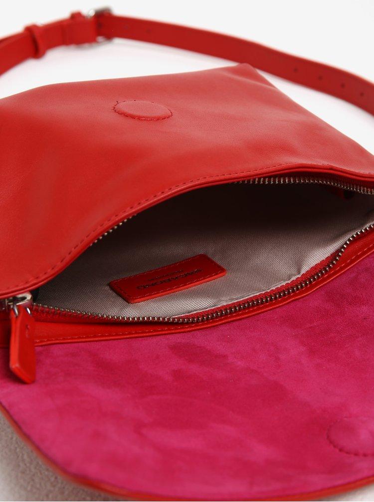Geanta clutch rosie din piele Vagabond Copenhagen